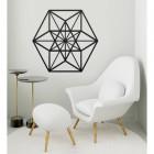 Geometric Cuboctahedron Wall Art in Situ in a Modern Sitting Room