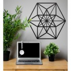 Geometric Cuboctahedron Wall Art in Situ in the Office