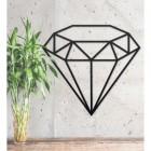 Black Steel Wall Art of Diamond