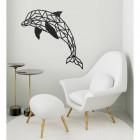 Geometric Dolphin Wall Art in Situ in a Modern Sitting Room