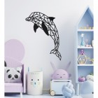Geometric Dolphin Wall Art in a Child's Playroom