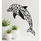Geometric Dolphin Wall Art in Situ