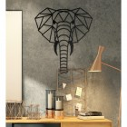 Wall Art of Geometric Elephant