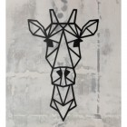 Geometric Wall Art of Giraffe