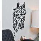 Geometric Horse Head Wall Art mounted to Wall
