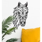 Geometric Horse Head Wall Art in Situ in the Home