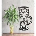 Geometric Steel Latte Glass Wall Art in the Home