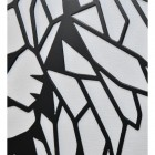 Close-up of the Geometric Design of the Lion Steel Wall Art