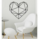 Geometric Love Heart Steel Wall Art