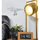 Geometric Natural Steel Finish T-Rex Wall Art in the Living Room