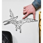 Geometric Natural Steel Pterodactyl Wall Art to Scale