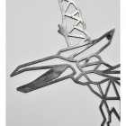 Close-up of the Geometric Design on the Natural Steel Pterodactyl Wall Art