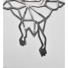Close-up of the Natural Steel Finish on the Geometric Pterodactyl Wall Art