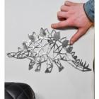 Geometric Natural Steel Stegosaurus Wall Art  to Scale