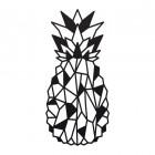 Geometric Steel Pineapple Wall Art in Black
