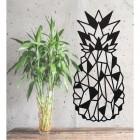 Geometric Steel Pineapple Wall Art Next to Plants