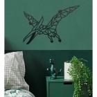 Geometric Iron Pterodactyl Wall Art in Situ in a Bedroom