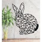 Geometric Rabbit Wall Art in a Black Finish