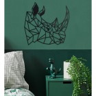 Geometric Rhino Steel Wall Art in a Display in the Bedroom