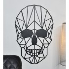 Close up of geometric skull in situ