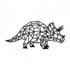 Geometric Iron Triceratops Wall Art Finished in Black