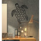 Geometric Sea Turtle Wall Art in Situ