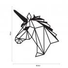 Geometric Unicorn Wall Art Finished in Black