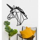 Geometric Unicorn Wall Art on White Wall
