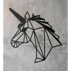 Geometric Unicorn Wall Art on a Rustic Grey Wall