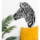 Geometric Zebra Head Wall Art in Situ in the Home
