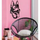 German Shepherd Wall Art in Situ on a Pink Wall