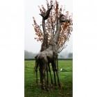 """Geraldine"" Giraffe Iron Garden Sculpture"