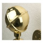 Polished Brass Globe Garden Tap