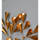 Tree Wall Art With a Gold Cone Tree Design