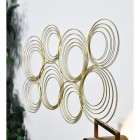 View of the Gold Spiral Wall Art From the Side