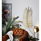 Golden Palm Leaf Wall Art in Situ in the Sitting Room