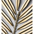 Close-up of the Gold Leaves on the Wall Art