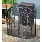 Gothic Fire Screen With Antique Silver Wash