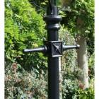 Ladder Bars on the Black Cast Iron Lamp Post