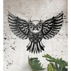 """Great Horned Owl"" Wall Art on a Rustic Brick Wall"