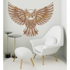 """Great Horned Owl"" Wall Art in Situ in a Modern Sitting Room"