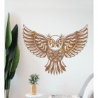 """Great Horned Owl"" Wall Art in Situ in the Home"