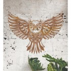 """Great Horned Owl"" Wall Art in Situ on a Rustic Brick Wall"