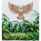 """Great Horned Owl"" Wall Art in the Garden"