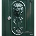 Green Camden Free Standing Post Box Lion Motif