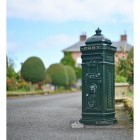 Green Camden Free Standing Post Box On Driveway