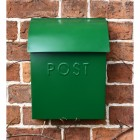 Lockable Green Contemporary Post Box