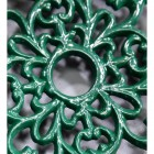 Ornate Design on the Green Heavy Duty Cast Iron Round Trivet
