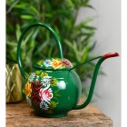 Green Narrowboat Style Watering Can