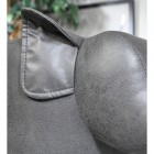 Close-up of the Ear on the Grey Elephant Leather Stool